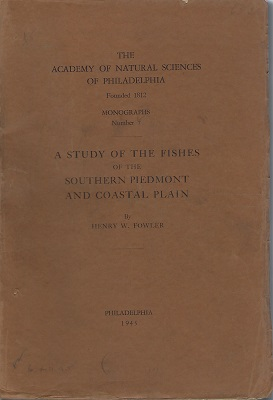 Image for A Study of the Fishes of the Southern Piedmont Coastal Plain