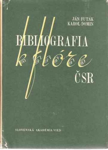 Image for Bibliography of the Flora of Czechoslovakia