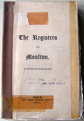 Image for The Registers of Moulton, Northamptonshire - Volume 1 - Baptisms 1565-1812
