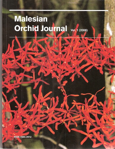 Image for Malesian Orchid Journal - a Bi-Annual Journal of Orchid Systematics, Morphology and Natural History. Volume 1.