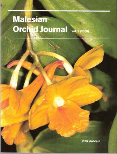 Image for Malesian Orchid Journal - a Bi-Annual Journal of Orchid Systematics, Morphology and Natural History. Volume 2.