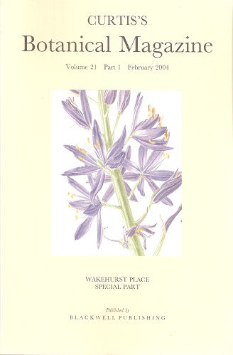 Image for Curtis's Botanical Magazine Volume 21 Part 1 - Wakehurst Place Special Part.. (The Kew Magazine)