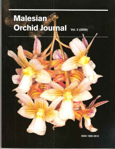 Image for Malesian Orchid Journal - a Bi-Annual Journal of Orchid Systematics, Morphology and Natural History. Volume 3.