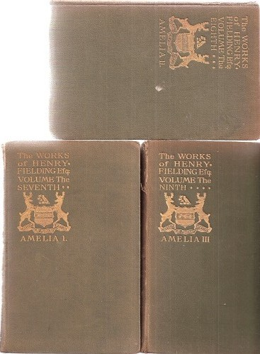 Image for Amelia (three volume edition, being Vols 7, 8 & 9 of The Works of Henry Fielding)