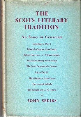 Image for The Scots Literary Tradition - an essay in criticism