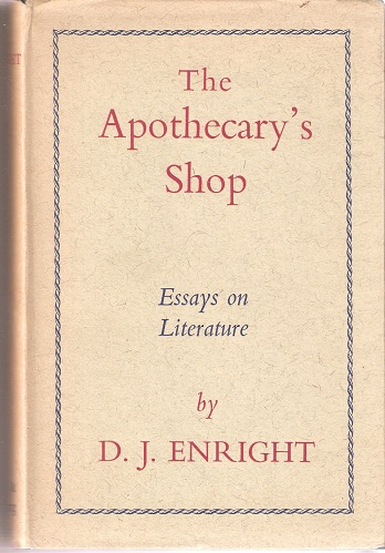 Image for The Apothecary's Shop - Essays on literature