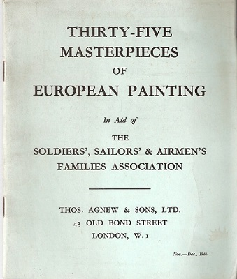 Image for Thirty-Five Masterpieces of European Painting in Aid of the Soldiers', Sailors' & Airmen's Families Association