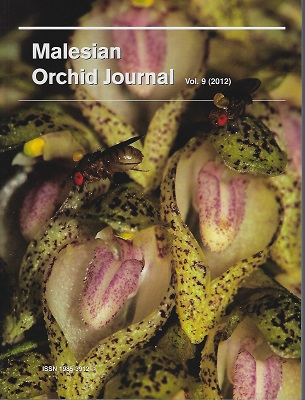 Image for Malesian Orchid Journal. Volume 9