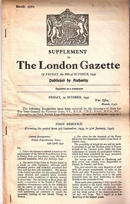 Image for SUPPLEMENT TO THE LONDON GAZETTE, (Number 35305), FRIDAY 17TH OCTOBER, 1941