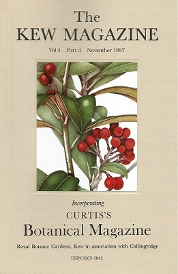 Image for The Kew Magazine ( Curtis's Botanical Magazine) Volume 4 Part 4 - includes The Genus Skimmia