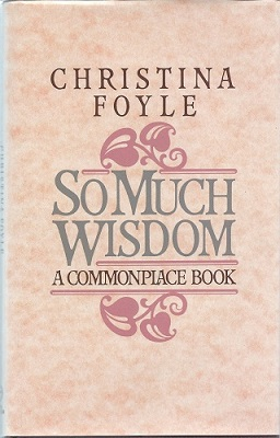 Image for S Much Wisdom - a commonplace book