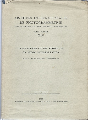 Image for Transactions of the Symposium on Photo Interpretation, Delft, 1962