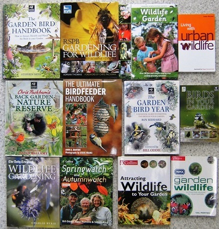 Image for WILDLIFE IN THE GARDEN - an excellent collection of twelve titles : Birdfeeder Handbook, Back Garden Nature Reserve, Garden Birds, Springwatch etc.