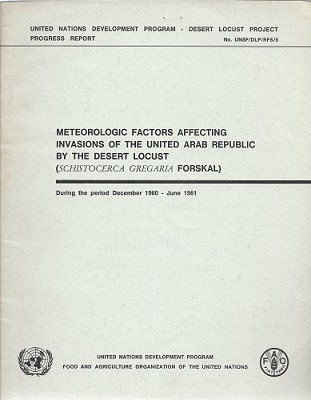 Image for Meteorological Factors Affecting Invasions of the United Arab Republic by the Desert Locust