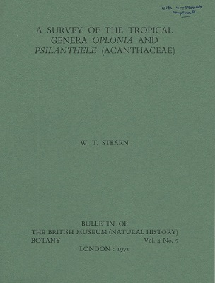 Image for A Survey of the Tropical Genera Oplonia and Psilanthele (Acanthaceae)  {Signed by author}