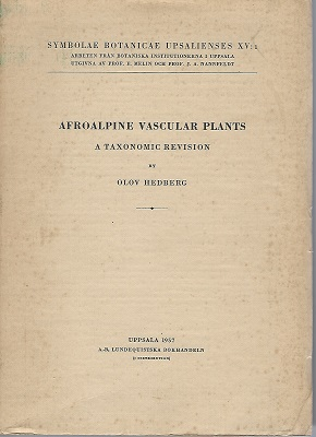 Image for Afroalpine Vascular Plants - a Taxonomic Revue