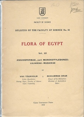 Image for Flora of Egypt.  Volume III :  Angiospermae, part Monocotyledones (Liliaceae - Musaceae)