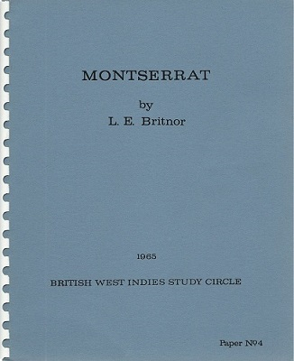 Image for Montserrat (British West Indies Study Circle Paper number 4)