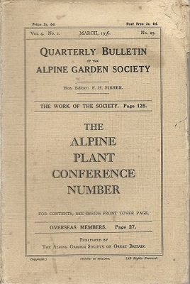 Image for Alpine Garden Society, Bulletin Number 23 (March 1936) -  Alpine Plant Conference Number.   (Fred Whitsey's copy)
