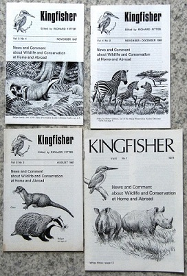Image for KINGFISHER - NEWS AND COMMENTS ABOUT WILDLIFE AND CONSERVATION AT HOME AND ABROAD, Volume 1 number 1 (February 1965) through to Volume 6 number 1 (1971).  [Lacking vol 2 parts 7 & 8].