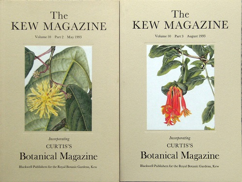 "Image for The Kew Magazine Volume 10 Parts 2 & 3 (Curtis Botanical magazine) - contains ""Two Centuries of Economic Botanists at Kew"""