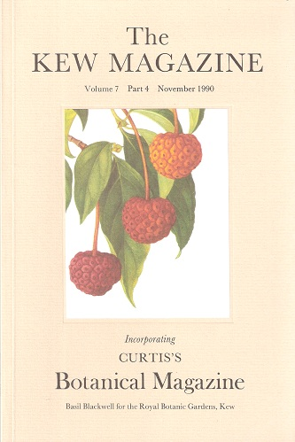 Image for The Kew Magazine (Curtis's Botanical Magazine) Volume 7 Part 4 - includes William Colenso, New Zealand botanist - something of his life and work
