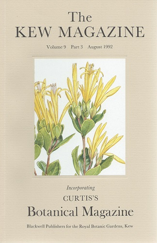 Image for The Kew Magazine Volume 9 part 3 (incorporating Curtis's Botanical Magazine) -  devoted to articles on Plants of Brazil