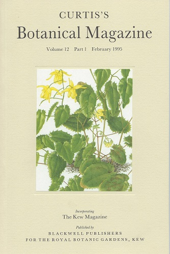 Image for Curtis's Botanical Magazine Volume 12 part 1 (incorporating The Kew Magazine) - with articles on the National Collections at Wakehurst Place, The Bamboo Genus Phyllostachys, and New  Chinese Taxa of Epimedium