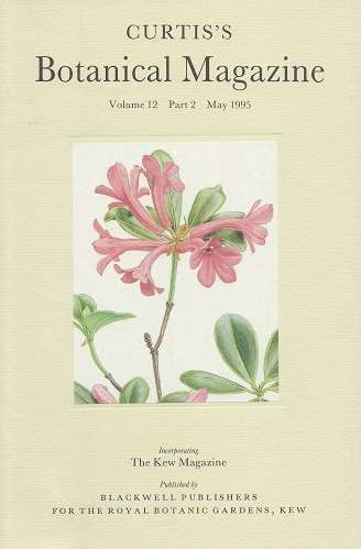 Image for Curtis's Botanical Magazine Volume 12 part 2 (incorporating The Kew Magazine) - devoted to Malesia and endemism in the Malesian flora