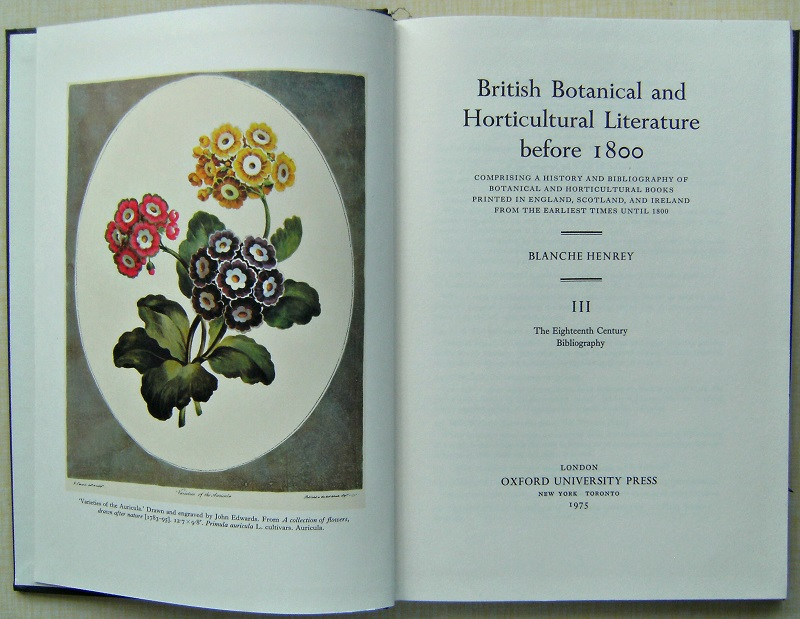 Image for British Botanical and Horticultural Literature Before 1800  Three volumes in slipcase.