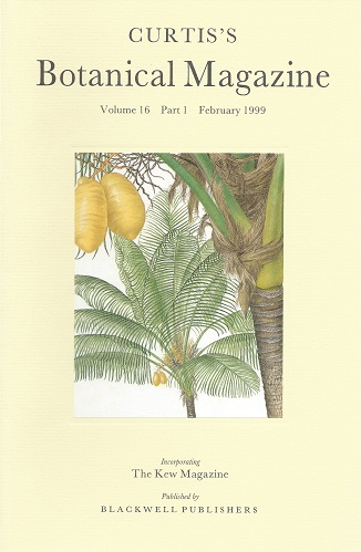 Image for Curtis's Botanical Magazine Volume 16 part 1 (incorporating The Kew Magazine) -  'John Gould, Curtis's Botanical Magazine and  William Jameson'
