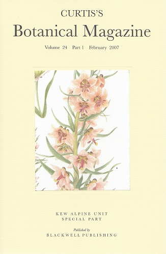 Image for Curtis's Botanical Magazine Volume 24 part 1 - devoted to the Kew Gardens Alpine Department
