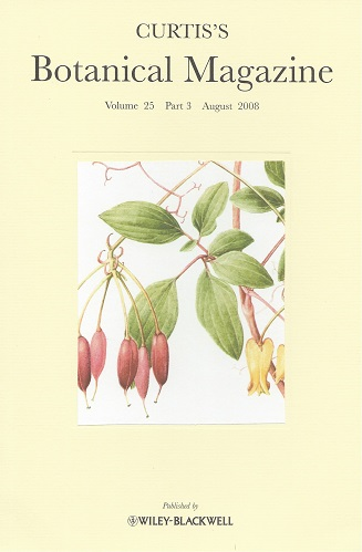 "Image for Curtis's Botanical Magazine Volume 25 part 3 (Kew Magazine) - includes ""The climbing dicentras - the Genus Dactylicapnos in cultivation"""