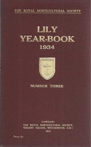 Image for The Lily Year Book for 1934 (Number 3)