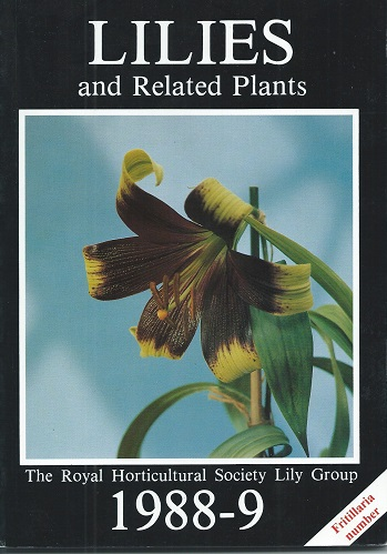 Image for Lilies and Related Plants, 1988-9 (Fritillaria Number).  (= Lily Year Book)