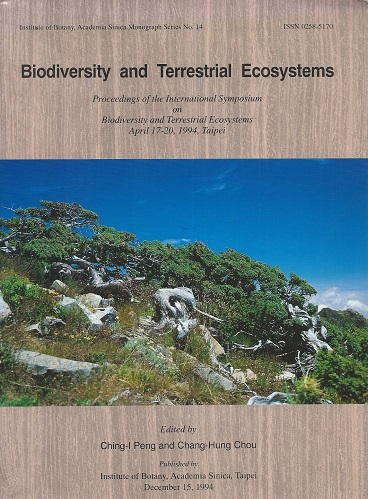 Image for Biodiversity and Terrestrial Ecosystems - Proceedings of the International Symposium, Taipei, 1994