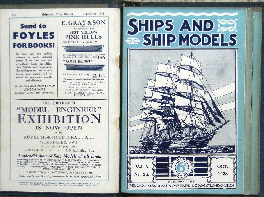 Image for SHIPS AND SHIP MODELS - A magazine for all lovers of ships and the sea.  Volumes 1 - 6 (1931 - 1937).