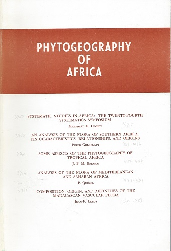 Image for Phytogeography of Africa