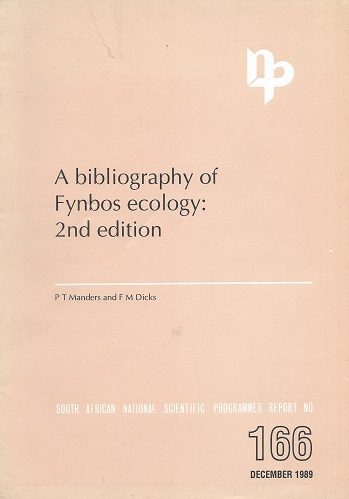 Image for A Bibliography of Fynbos Ecology