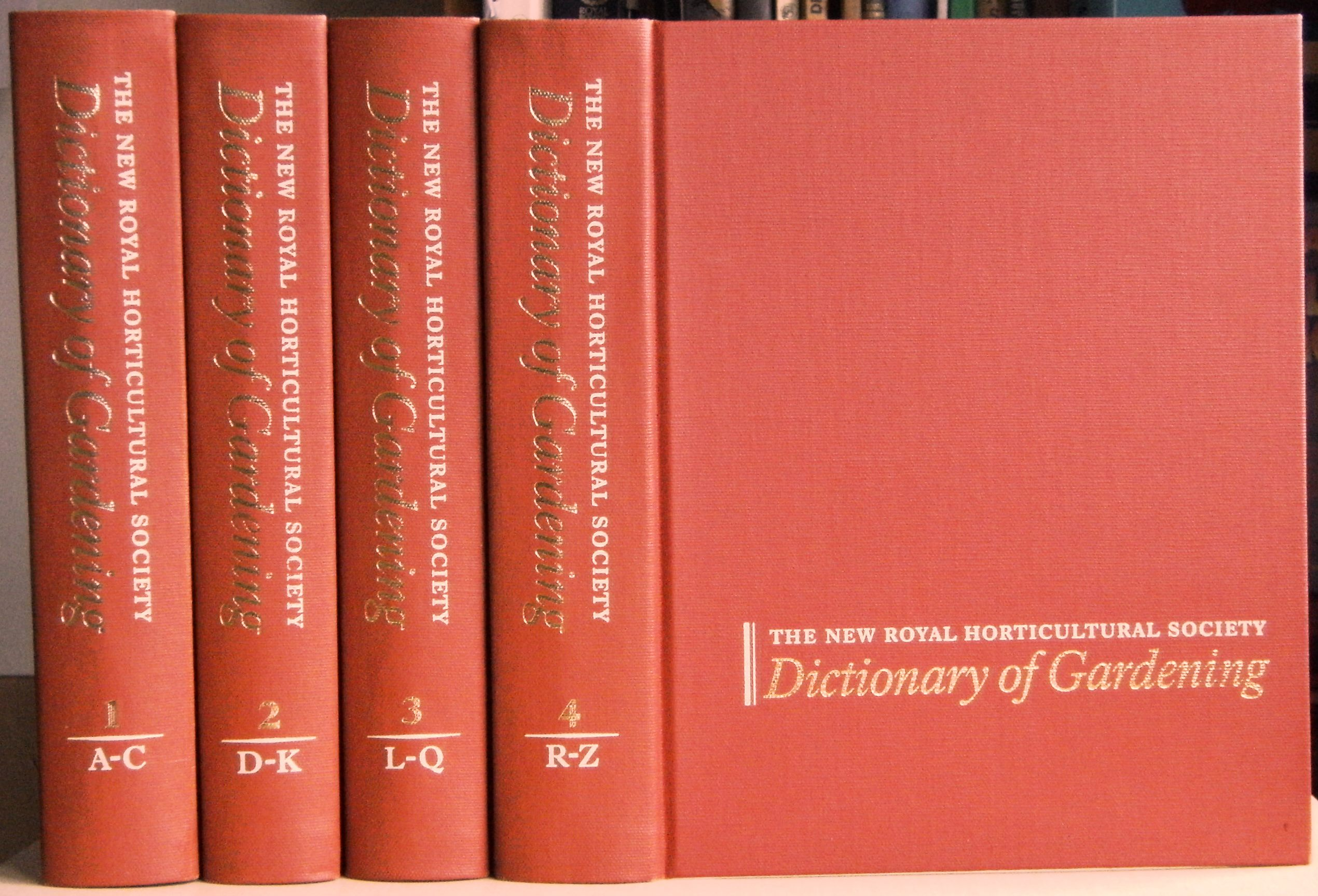 Image for The New Royal Horticultural Society Dictionary of Gardening