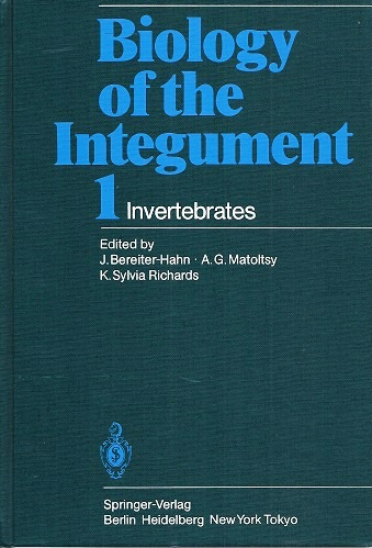 Image for Biology of the Integument, Volume 1 - Invertebrates