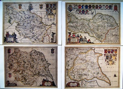 Image for Historic Yorkshire Ridings - a set of four old Yorkshire maps