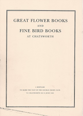 Image for Great Flower Books and Fine Bird Books at Chatsworth : a bibliography