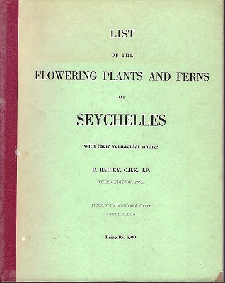 Image for List of the Flowering Plants and Ferns of Seychelles, with their vernacular names