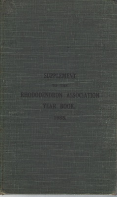 Image for Supplement to the Rhododendron Association Year Book, 1935