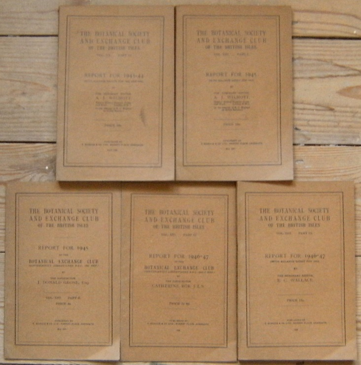 Image for Botanical Society and Exchange Club of the British Isles, Reports for 1943-44, 1945 and 1946- 1947.