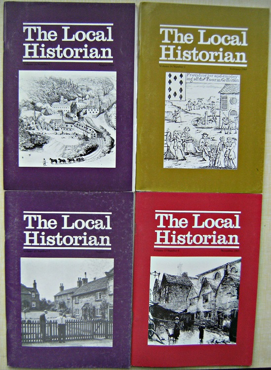 Image for THE LOCAL HISTORIAN - JOURNAL OF THE BRITISH ASSOCIATION FOR LOCAL HISTORY  Volumes 10 - 16, in 89 parts (lacking only  part - Volume 11 number 5).