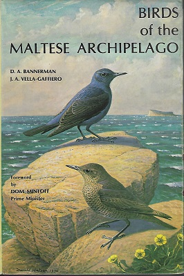 Image for Birds of the Maltese Archipelago   [Richard Fitter's copy]