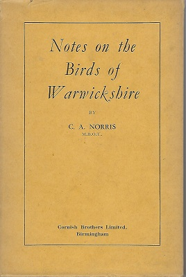 Image for Notes on the Birds of Warwickshire   [Richard Fitter's copy]