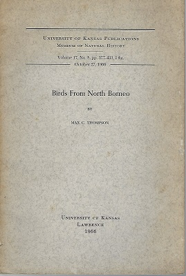 Image for Birds from North Borneo   [Richard Fitter's copy]
